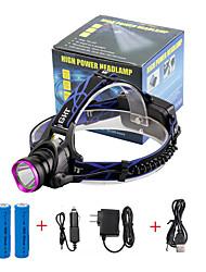Недорогие -U'King Налобные фонари Фары для велосипеда 2000 lm Светодиодная лампа LED излучатели 3 Режим освещения с батарейками и зарядными устройствами Масштабируемые Фокусировка Компактный размер