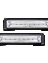 Недорогие -2 шт. 40 Вт передняя решетка светодиодный аварийный свет мигает предупреждение стробоскопа 12-24 В