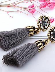 hesapli -1 çift Kadın's Püskül Küpe - Bohem moda Mücevher Siyah / Gri / Kırmzı Uyumluluk Günlük Cadde