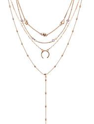 levne -ženský vícevrstvý slitinový náhrdelník