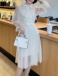 Недорогие -Жен. Классический А-силуэт Платье Пэчворк Средней длины