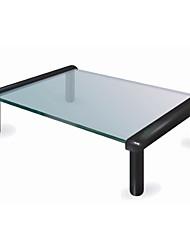 Недорогие -mec tb501 закаленное стекло подставка офис домашняя кухня стеклянная полка стеллаж для хранения дисплей экран высота улучшитель стеклянный стол