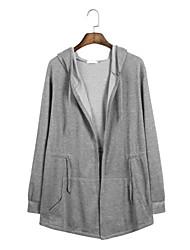 hesapli -Erkekler uzun kollu gevşek hoodie - düz renkli kapüşonlu siyah m