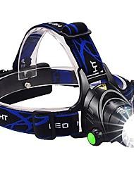 abordables -Lampes Frontales Phare Avant de Moto LED LED Émetteurs 1600 lm 3 Mode d'Eclairage avec Piles et Chargeur Fonction Zoom, Imperméable, Faisceau Ajustable Camping / Randonnée / Spéléologie, Usage