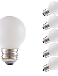 abordables -GMY® 6pcs 3.5 W 300 lm E26 / E27 Ampoules à Filament LED G16.5 4 Perles LED COB Décorative Blanc Chaud 120 V