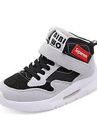 Недорогие -Мальчики Обувь Синтетика Наступила зима Удобная обувь Спортивная обувь Для прогулок На липучках для Дети / Для подростков Черный / Серый