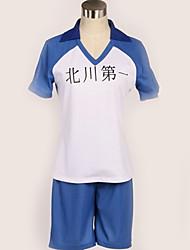 baratos -Inspirado por Haikyuu Fantasias Anime Fantasias de Cosplay Uniformes Escolares Simples / Cidades Blusa / Mais Acessórios / Calções Para Homens / Mulheres