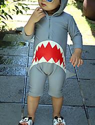 economico -Bambino Da ragazzo Sport Fantasia geometrica Cotone / Poliestere Costumi da bagno Grigio