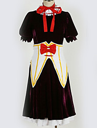baratos -Inspirado por Projecto de Touhou Fantasias Anime Fantasias de Cosplay Ternos de Cosplay Contemporâneo Peitilho / Vestido / Arco Para Homens / Mulheres