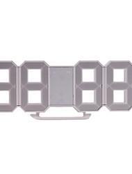 Недорогие -Творческий 3d 4 цифровые светодиодные настенные часы таймер украшения дома стол будильник дремать предупреждение 12/24 час дисплей новинка освещение