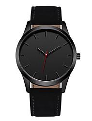 Недорогие -Geneva Муж. Спортивные часы Нарядные часы Кварцевый Кожа Черный / Коричневый 30 m Повседневные часы Крупный циферблат Аналоговый На каждый день Мода - Черный Коричневый Один год Срок службы батареи