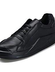 levne -Pánské Komfortní boty PU Jaro Tenisky Bílá / Černá / Černobílá