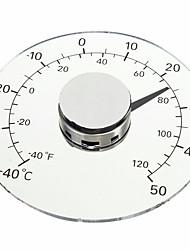 Χαμηλού Κόστους -διαφανής βαθμός Cahirheit celsius κυκλικό υπαίθριο θερμόμετρο υγρόμετρο θερμοκρασία μετρητή υγρασίας