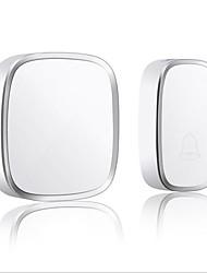 Недорогие -довольно белый дверной звонок беспроводной один в один дверной звонок музыка динг дон не встроенный дверной звонок abs + pc