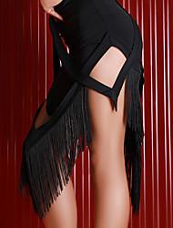 お買い得  -ラテンダンス ボトムズ 女性用 性能 プロミックス タッセル ローウエスト スカート