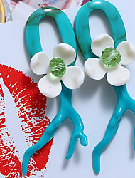 economico -Per donna Tropicale Orecchini a bottone - Resina Tropicale Gioielli Rosso / Verde / Blu Per Per eventi Bikini / 1 paio