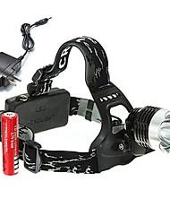 Недорогие -U'King Налобные фонари Фары для велосипеда 2000 lm Светодиодная лампа LED излучатели 3 Режим освещения с батарейками и зарядным устройством Компактный размер Высокомощный Простота транспортировки
