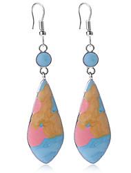 hesapli -1 çift Kadın's Armut Damla Küpeler - Modern sevimli Stil Mücevher Gökküşağı Uyumluluk Randevu Cadde
