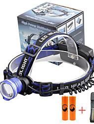 Недорогие -U'King Налобные фонари Фары для велосипеда Светодиодная лампа LED излучатели 2000 lm 3 Режим освещения с батарейками и зарядным устройством Масштабируемые Будильник Фокусировка