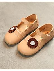 baratos -Para Meninas Sapatos Couro Ecológico Primavera / Outono Conforto Rasos para Bébé Bege / Vermelho / Rosa claro