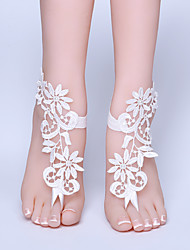 ราคาถูก -ลูกไม้ สายคล้องข้อเท้า / โลลิต้า Wedding Garter กับ ลูกไม้ / มุก แหวนนิ้วเท้า งานแต่งงาน / ปาร์ตี้