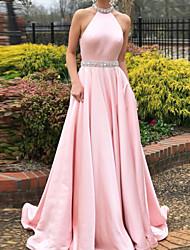 Недорогие -Жен. Классический Оболочка Платье - Однотонный, Открытая спина Макси