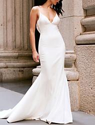 Недорогие -Жен. Оболочка Платье - Однотонный, Открытая спина Макси