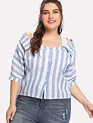 billige -Skjorte Dame - Stripet Gatemote