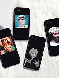 Недорогие -Кейс для Назначение Apple iPhone XR / iPhone XS Max С узором Кейс на заднюю панель Масляный рисунок / Панк Мягкий ТПУ для iPhone XS / iPhone XR / iPhone XS Max