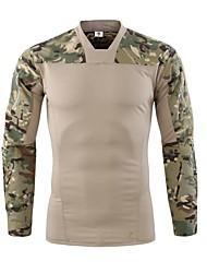 저렴한 -Esdy 남성용 긴 소매 하이킹 T-셔츠 집 밖의 가을 봄 빠른 드라이 통기성 착용 가능한 땀 흡수 기능성 소재 면 혼방 티셔츠 그레이 카모플라쥬 카키 야외운동