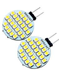 Недорогие -2pcs 2 W 200 lm G4 Двухштырьковые LED лампы T 24 Светодиодные бусины SMD 3528 Декоративная Тёплый белый / Холодный белый 12 V / 2 шт. / RoHs