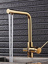 cheap -Kitchen faucet - Two Handles One Hole Electroplated Standard Spout Other Ordinary Kitchen Taps