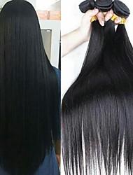 저렴한 -3 개 묶음 브라질리언 헤어 직진 100 % 레미 헤어 위브 번들 인간의 머리 직조 번들 헤어 한 팩 솔루션 8-28 inch 자연 색상 인간의 머리 되죠 코스프레 클래식 여성 인간의 머리카락 확장 여성용