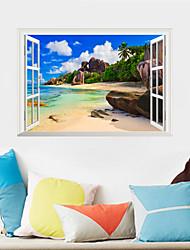 Недорогие -Декоративные наклейки на стены - Простые наклейки Пейзаж / Цветочные мотивы / ботанический Гостиная / Спальня / Ванная комната