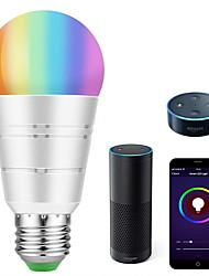 abordables -KWB 1 set 7 W 700-800 lm E26 / E27 Ampoules LED Intelligentes A19 22 Perles LED SMD 5730 Elégant / Contrôle de l'APP / Chronométrage RGBW 100-240 V