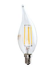 hesapli -GMY® 1pc 3.5 W 350 lm E12 LED Filaman Ampuller CA10 4 LED Boncuklar COB Dekorotif Sıcak Beyaz 120 V
