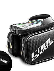 Недорогие -CoolChange Сотовый телефон сумка / Бардачок на раму 6 дюймовый Сенсорный экран, Компактность Велоспорт для Samsung Galaxy S12 / iPhone 8/7/6S/6 / iPhone X Черный