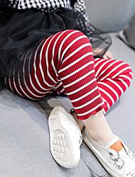 Χαμηλού Κόστους -Παιδιά Κοριτσίστικα Ενεργό Καθημερινά / Σχολείο Ριγέ Με Βολάν Βαμβάκι / Ακρυλικό / Πολυεστέρας Κολάν Μαύρο