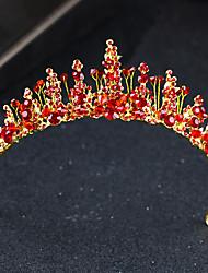 hesapli -alaşım Tiaras ile Kristal Detaylar 1 Parça Düğün / Özel Anlar Başlık