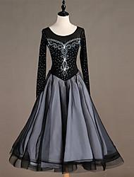 Χαμηλού Κόστους -Επίσημος Χορός Φορέματα Γυναικεία Επίδοση Spandex Διαφορετικά Υφάσματα / Κρύσταλλοι / Στρας Μακρυμάνικο Φόρεμα