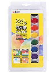Недорогие -1 pcs 24 цвета M&G APL97619 Твердые акварельные краски