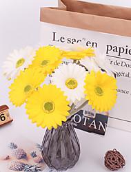 abordables -Fleurs artificielles 5 Une succursale Classique Accessoires de Scène Européen Chrysanthème Fleurs éternelles Fleur de Table