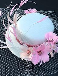 رخيصةأون -الريش قطع زينة الرأس مع قبعة 1 قطعة زفاف / حفل / مساء خوذة