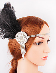 cheap -The Great Gatsby 1920s The Great Gatsby Costume Women's Flapper Headband Head Jewelry Black Vintage Cosplay Party Prom Festival / Headwear