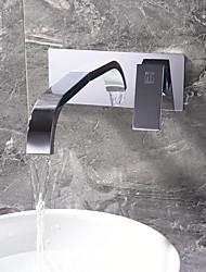 preiswerte -Waschbecken Wasserhahn - Verbreitete Chrom Andere Einzigen Handgriff Zwei LöcherBath Taps