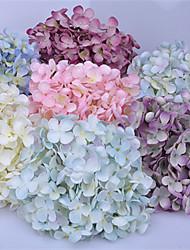 levne -Umělé květiny 1 Větev Klasické Evropský Pastýřský Styl Hortenzie Květina na stůl