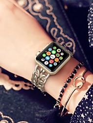 Недорогие -Сплав Ремешок для часов Ремень для Apple Watch Series 4/3/2/1 Черный / Серебристый металл / Золотистый 18cm / 7 дюймы 2.2cm / 0.9 дюймы