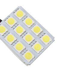 baratos -1 Peça Carro Lâmpadas 6 W SMD 5050 12 LED Lâmpada Para Placa de Veículo / Iluminação interior Para Universal / Volkswagen / Suzuki Todos os Modelos Todos os Anos