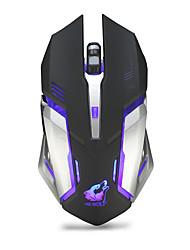 Недорогие -OEM X7 Беспроводная 2.4G Gaming Mouse / Управление мышью RGB свет 2400 dpi 3 Регулируемые уровни DPI 6 pcs Ключи 6 программируемых клавиш