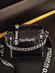 Χαμηλού Κόστους -Γυναικεία Τσάντες PU Τσάντα ώμου Γράμμα Μαύρο / Ασημί / Βυσσινί